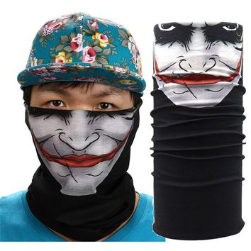 New Halloween Mask Festival Skull Masks Outdoor Motorcycle Bicycle Scarf Half Face Mask Cap Neck Ghost Ski Scarf Balaclava Party