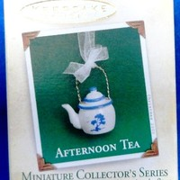 2005 Afternoon Tea Hallmark Miniature Series Ornament