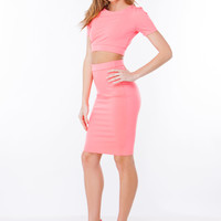 Bae-sic Crop 'N Pencil Skirt Set GoJane.com