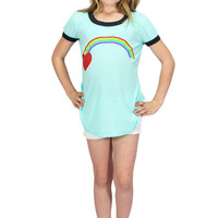 Dirtee Hollywood Mint Green Rainbow Tee | Mod Angel