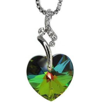 Nirano Collection Green Heart Pendant & Chain Created with Swarovski® Crystals