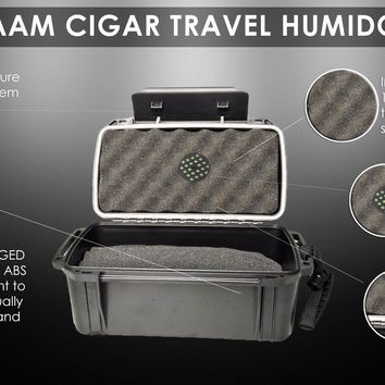 Single Clamp Travel-Size Humidors for Cigars