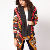 Slouchy Knit Draped Cardigan