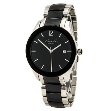 Kenneth Cole KC4762 Womens New York Black Dial Ceramic and Steel Bracelet Watch