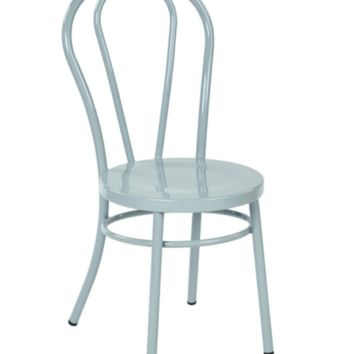 Thonet Style  Pastel Quarry Metal Bentwood Steel Side Chair (set of 2)
