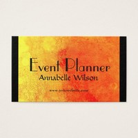Bright Orange Event Planner Design Business Card