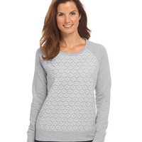 Women's Lace-Front Sweatshirt | Now on sale at L.L.Bean