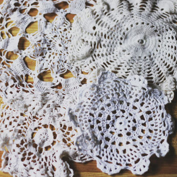 Set of 4 Hand Crochet Doilies by SonadoraInLove on Etsy