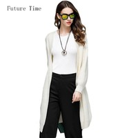 3 Colors Solid Big Size Crochet Cardigans Women 2017 Autumn Vogue Loose Sweater Cardigan Knitting Patchwork Open Stitch SK260