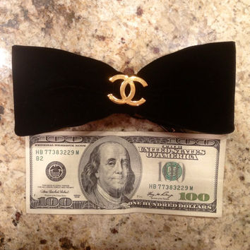 RARE AUTHENTIC Vintage CHANEL Hair Bow  by CandyHeartGirl on Etsy