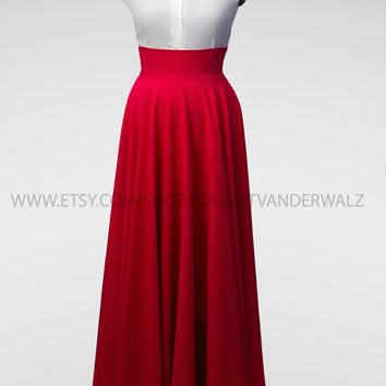 Maxi skirt, long skirt, Red Skirt, circle skirt, Skirt with Pocket, Midi Skirt, Floor-length pleated skirt, full length skirt, plus size