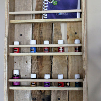 Essential Oil Shelf, Wooden Essential Oil Display Shelf, Essential Oil Rack, Rustic Wood Essential Oil Shelf, Hanging Wall Shelf
