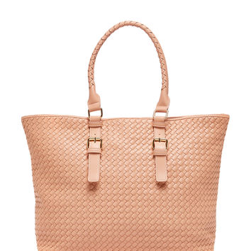 Shiraleah Lola Tote Bag in Nude Vegan Leather