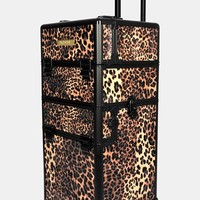 Junior Women's NYX Leopard Cosmetics Train Case
