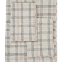 Belle Epoque Plaid Flannel Sheet Set - Red -