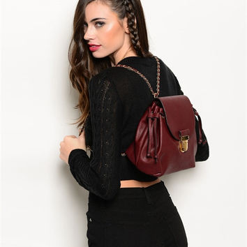 Dana Backpack- Burgundy