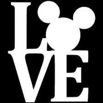Love Mickey Laptop Vinyl Car Decal