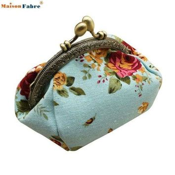 Naivety 2016 New Women Lady Retro Vintage Flower Small Wallet Hasp Purse Floral Clutch Bag Good For Gift Jul28 Drop Shipping