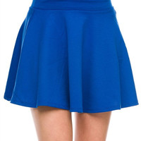 The Royal Blues Skater Skirt