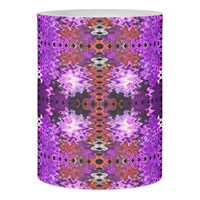 Purple Red Abstract Design Flameless Candle