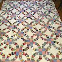 Vintage hand stitched antique quilt, hand made quilt, vintage quilt, hand pieced, wall decor, cabin decor, old quilt