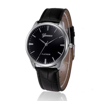 Hot Sale Saat Pu Leather Band Mens Watches Top Bra