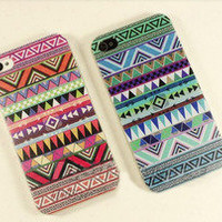 romefashion — blue red totem retro Impact Case for iphone 4/4s/5