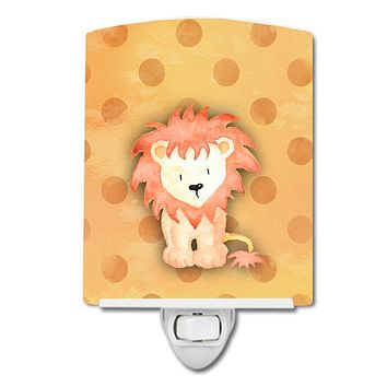Polkadot Lion Watercolor Ceramic Night Light BB7374CNL