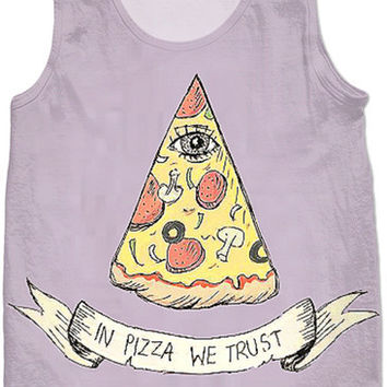 In Pizza We Trust Tank Top