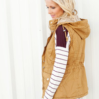 Camel Hooded Vest