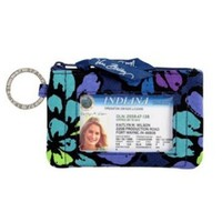 Vera Bradley Zip ID Case in Indigo Pop
