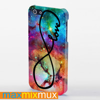 Galaxy Nebula Infinity Love iPhone 4/4S, 5/5S, 5C Series Full Wrap Case