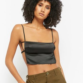 Satin Crop Cami