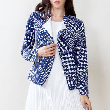 Sugar Lips Check Up Abstract Printed Jacket