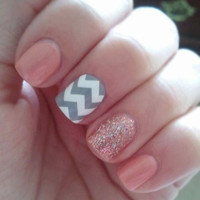 Large Pattern Chevron Nail Decals - YOU PICK COLOR - Set of 20