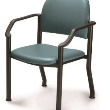 Midmark Ritter Soft and Comfortable Seating Side Chair Fixed Armrests Contoured Back Vinyl
