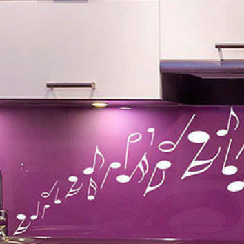 Music Notes Clef Living Room Inspirational Music Decal Vinyl Sticker tr787