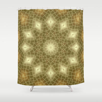 Gold And Brown Shower Curtain By Lena From Society6 Shower