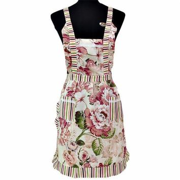ICIK272 Bib Cooking Aprons With Pocket Women Lady Restaurant Home Kitchen quality first
