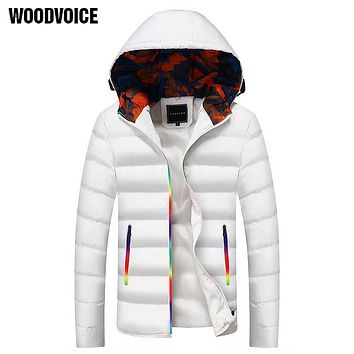 Brand Clothing Thick Warm Men Winter Coat Fashion Jacket Parka Plus Size Camouflage Colorful Zipper Cotton-padded Clothes Male