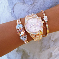 Rosey Marble Stack