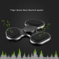 Supology Anti Stress Cool Fidget Spinner TF Card Bluetooth Speaker EDC Toys Hand Spinner Tri Spinners For Autism and ADHD Kids