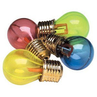 "12 ~ Light Bulb Pencil Sharpeners ~ Approx. 2.5"" ~ Assorted Colors ~ New ~ School Prizes, Party Favors, Bright Idea!"