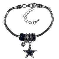 Dallas Cowboys Bracelet - Euro Bead