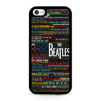 the beatles typography song lyric iPhone 5C Case