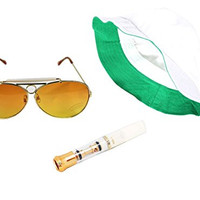Fear & Loathing Las Vegas Hat Orange Sun Glasses Cigarette Holder