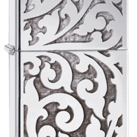 Zippo Filigree High Polish Chrome Windproof Lighter