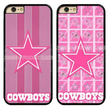NEW Dallas Cowboys Pink PC+TPU Edge Phone Case Cover For iphone XS MAX XR X 5s 6s 7 8 Plus Samsung s5 s6 s7 s8 s9 J5 #T099