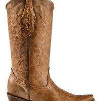 Corral Vintage Leather Cowgirl Boots - Snip Toe