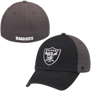 Oakland Raiders '47 Brand Nightshade Franchise Fitted Hat – Charcoal